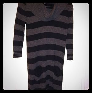 Express black and grey striped sweater